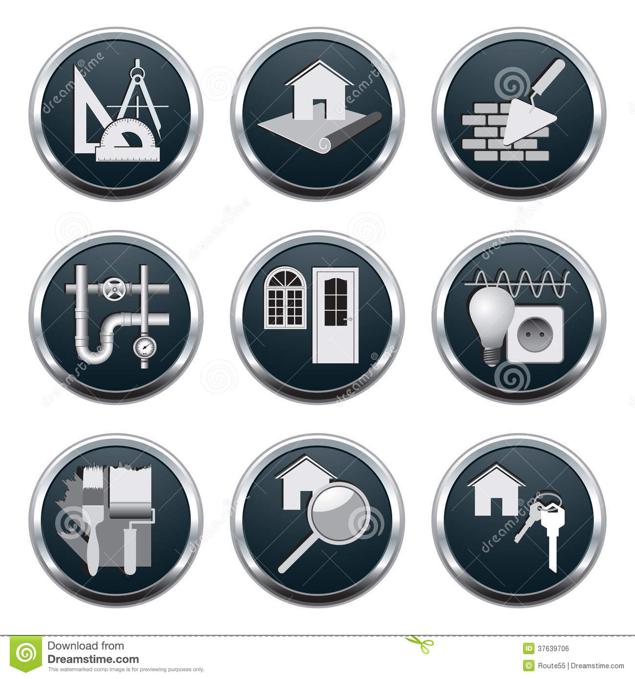 Construction architecture icons royalty free stock image for Architecture icon