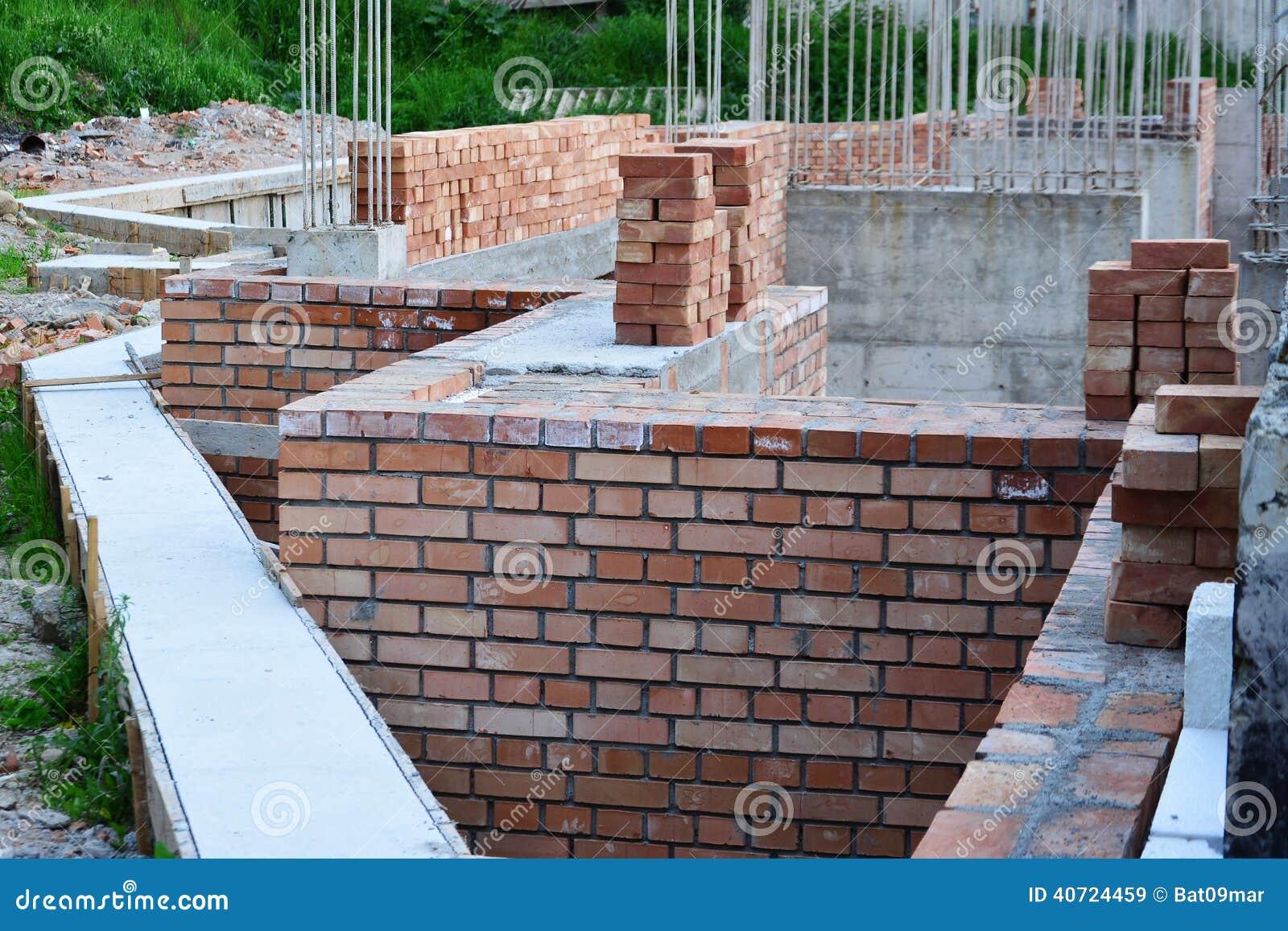 House Building Construction Area Details Stock Photo