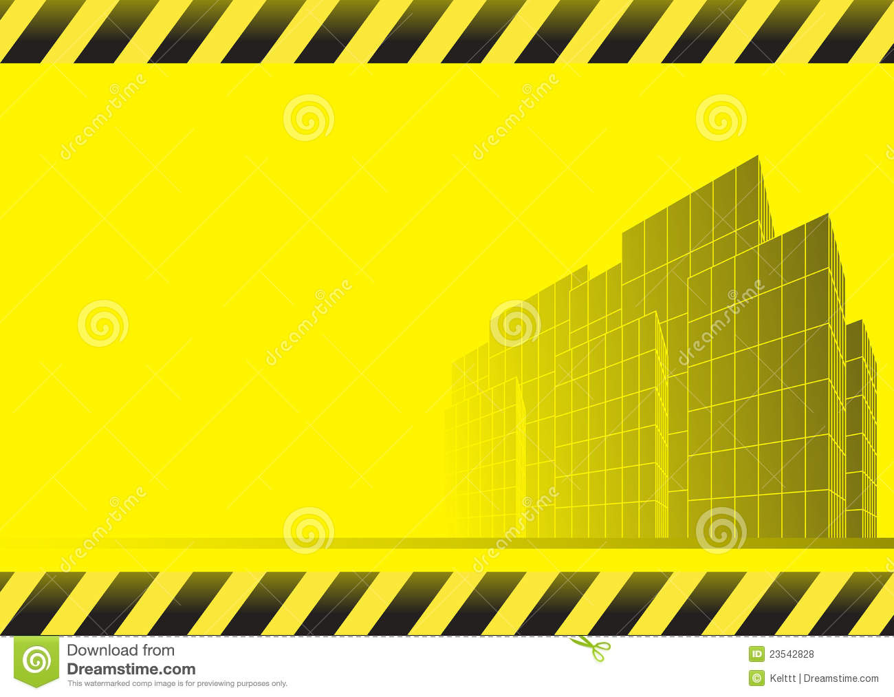 Industrial House Plans Construction Background With Skyscrapers Royalty Free