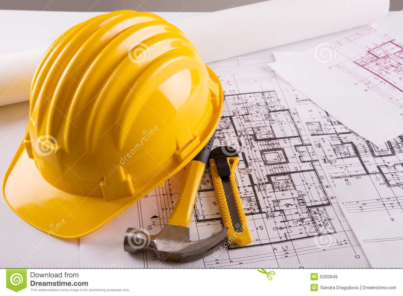 Construction Blueprint Royalty Free Stock Images - Image: 5200849: www.dreamstime.com/royalty-free-stock-images-construction-blueprint...