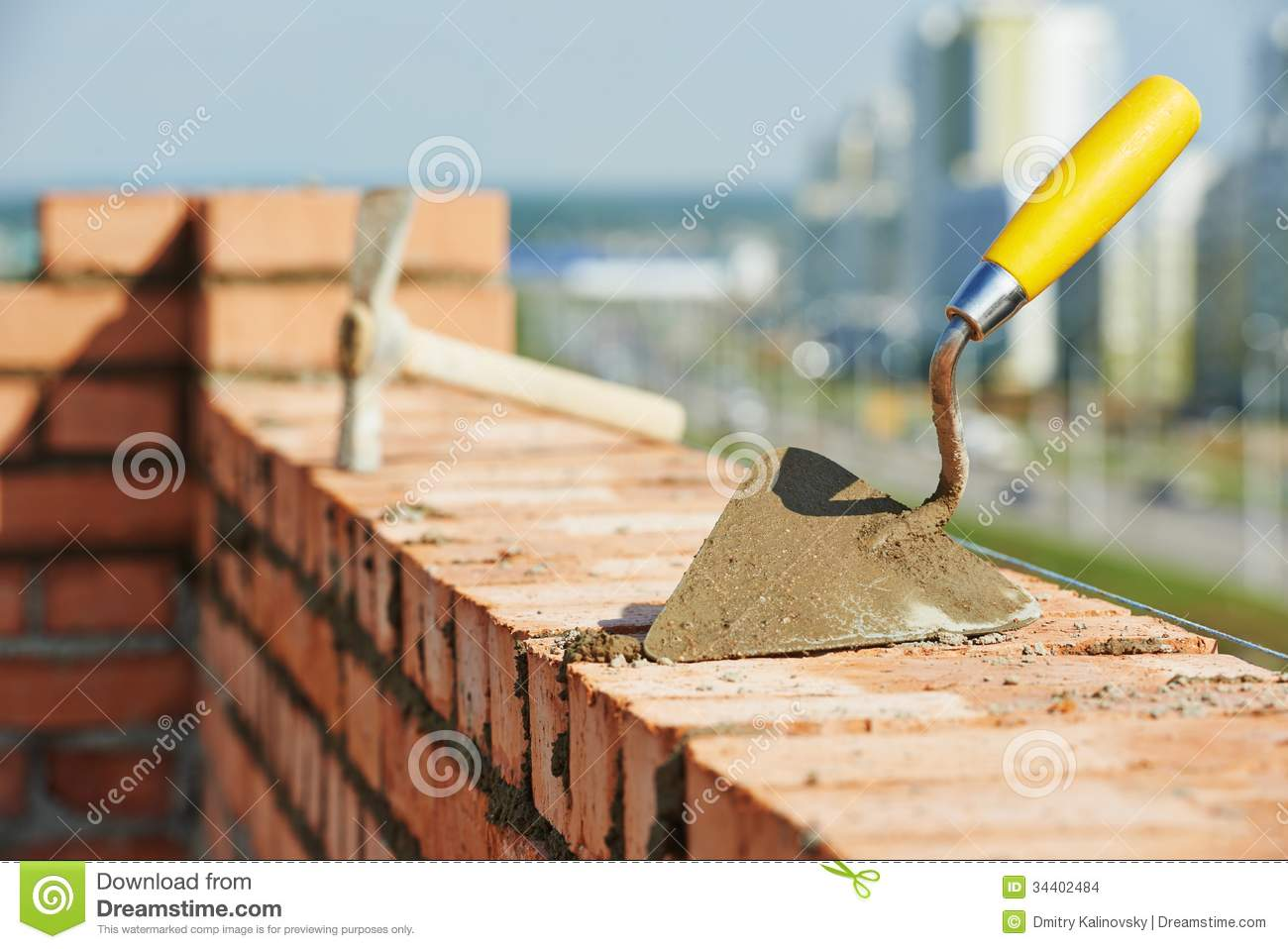 Construction bricklayer tools stock photo image 34402484 for Builders in my area