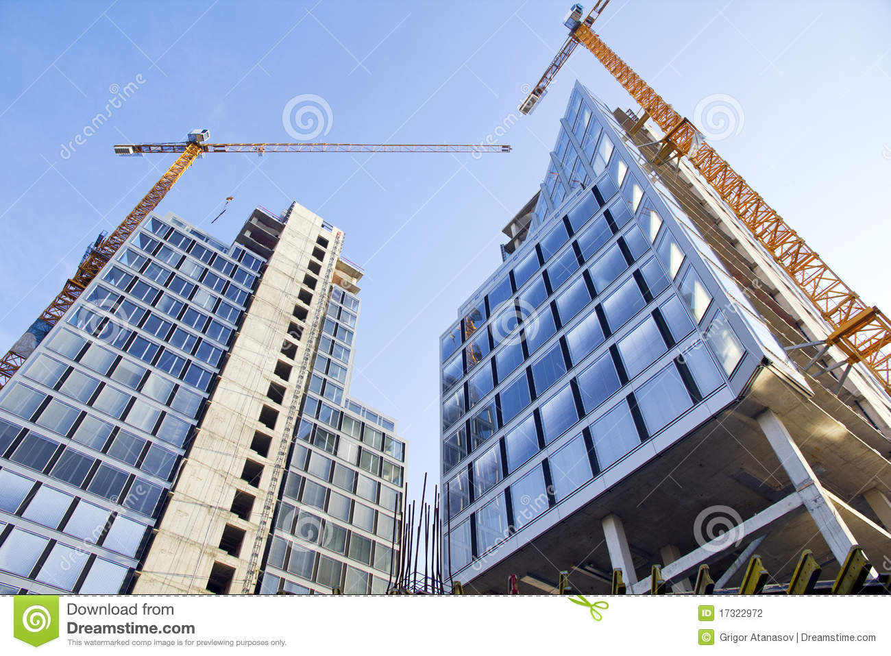 Construction of buildings