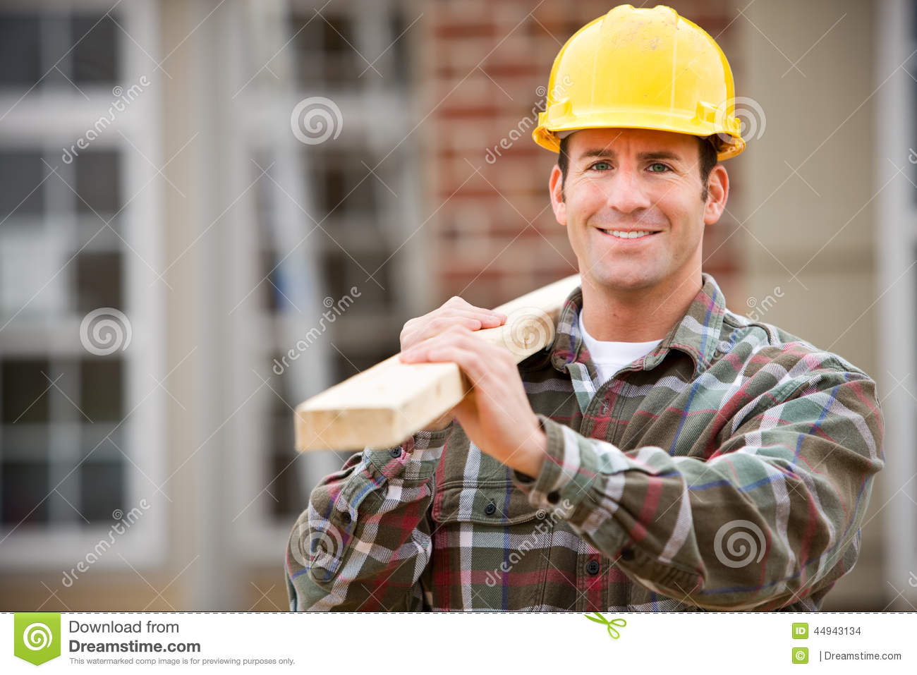 Construction: Cheerful Construction Worker