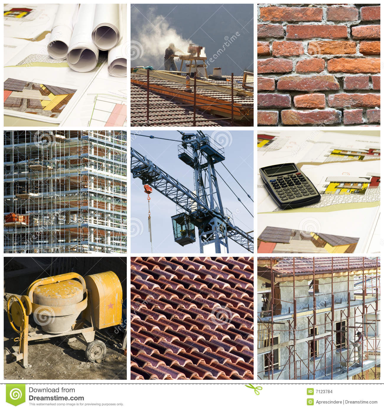 Download Construction collage stock photo. Image of apartment, collection - 7123784