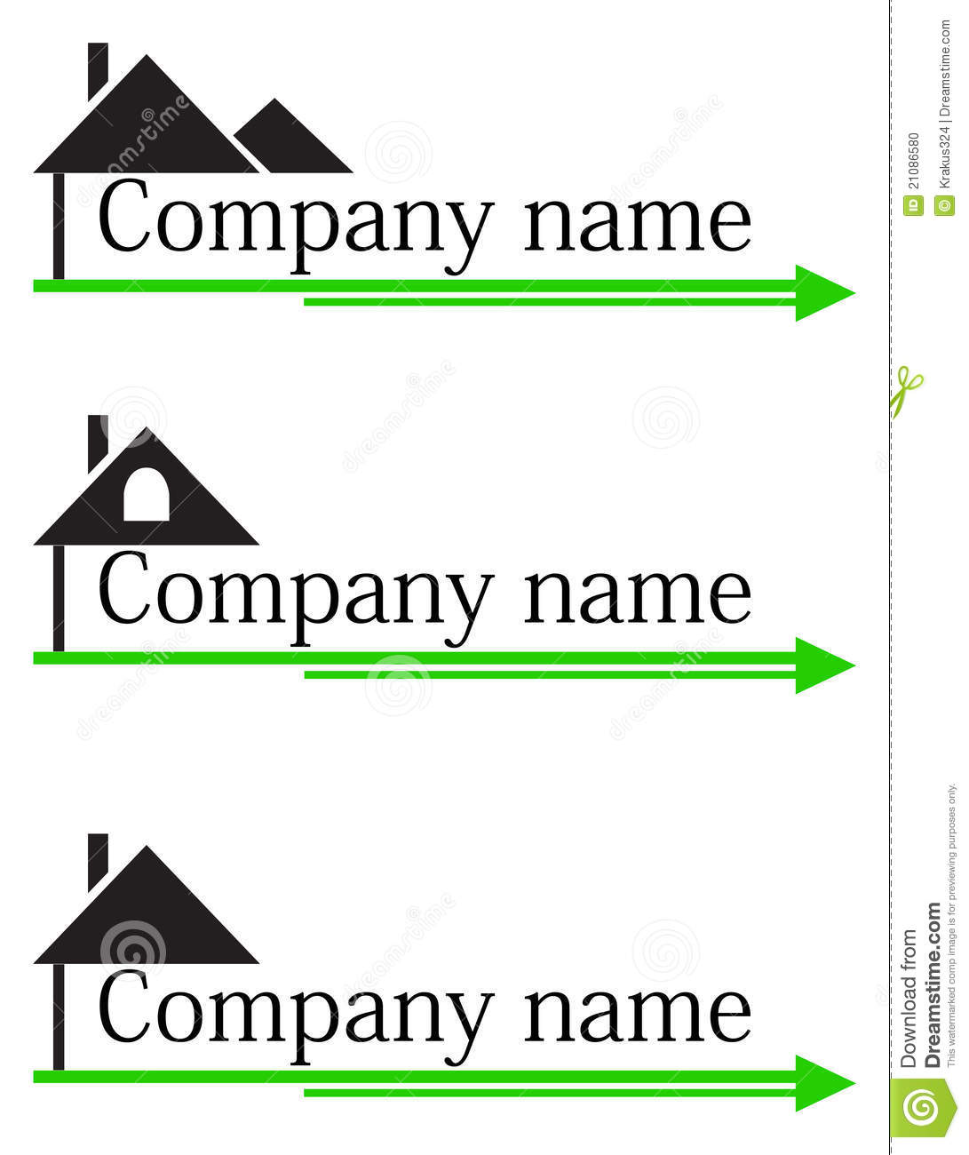 Dreams Construction Company: Construction Company Logo Stock Photo