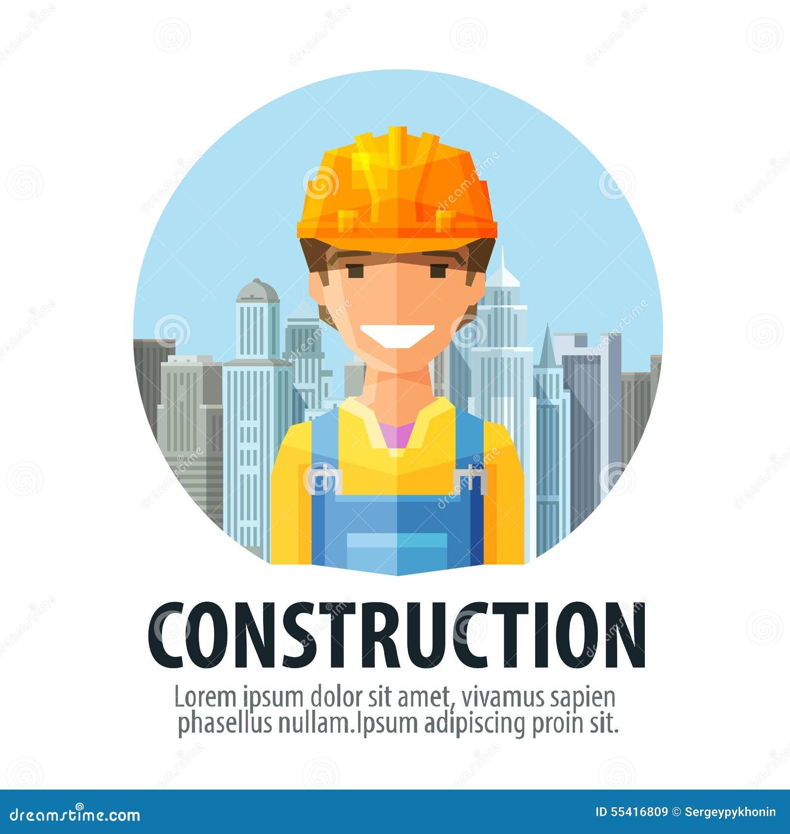 Construction Company Vector Logo Design Template Stock