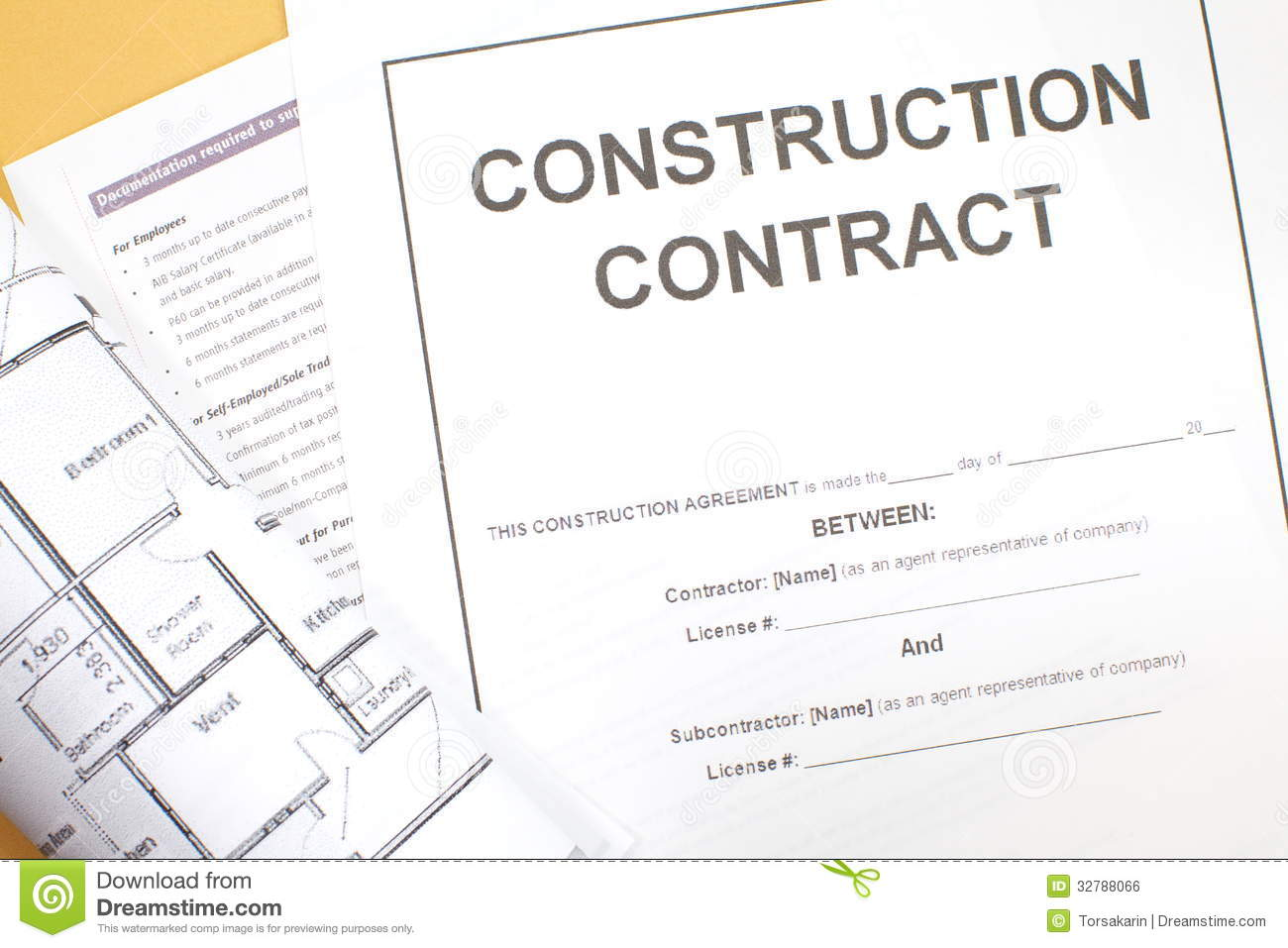 Construction Contract Royalty Free Stock Image Image