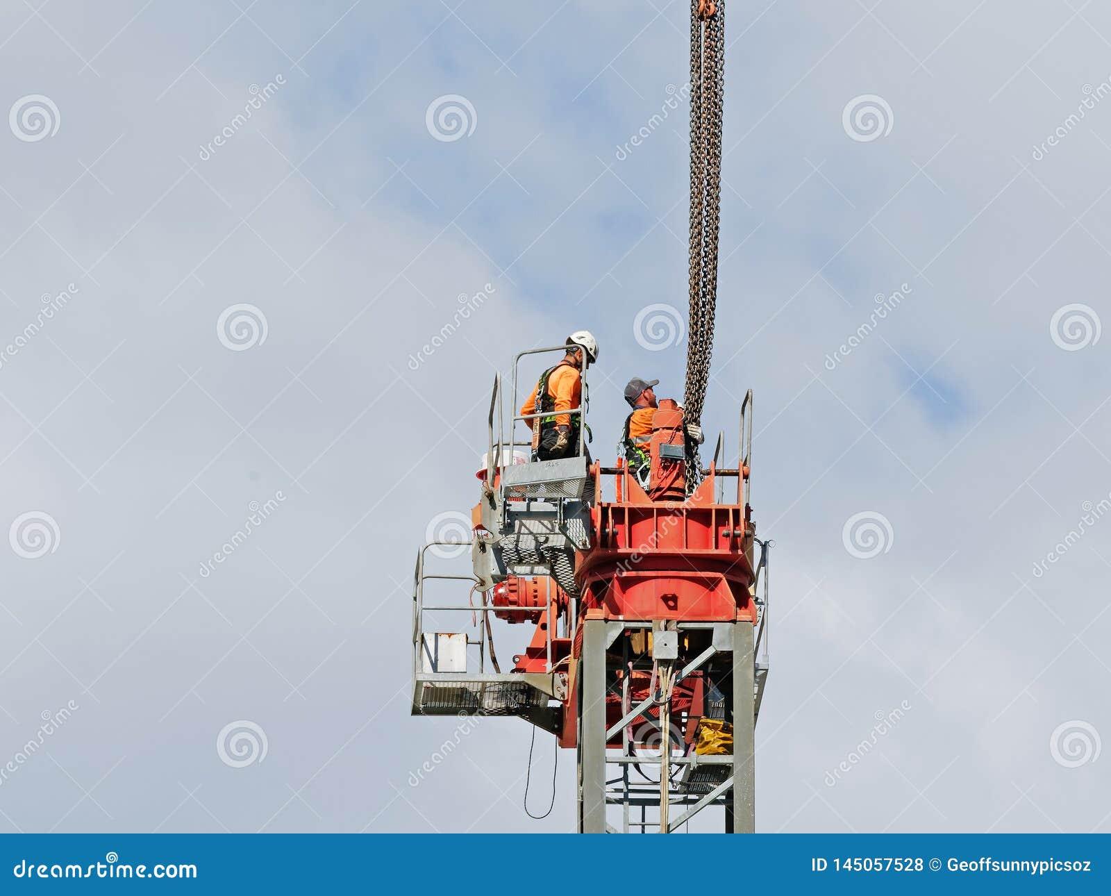 Construction crane removal. Update ed317. Gosford. April 9, 2019