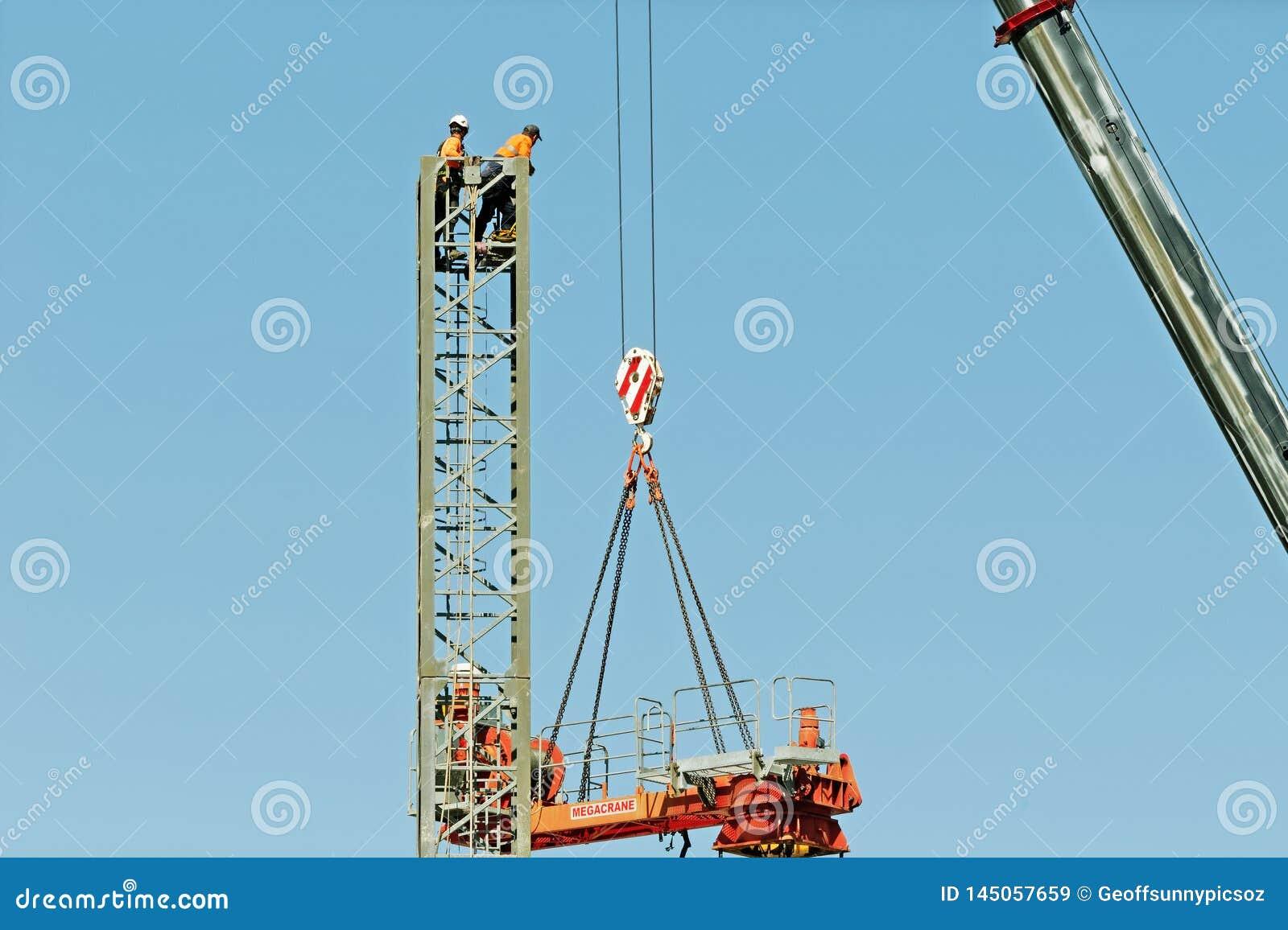 Construction crane removal. Update ed319. Gosford. April 9, 2019