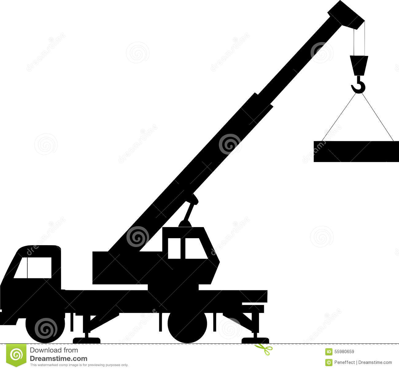Royalty Free Stock Images: Construction crane vector on ...