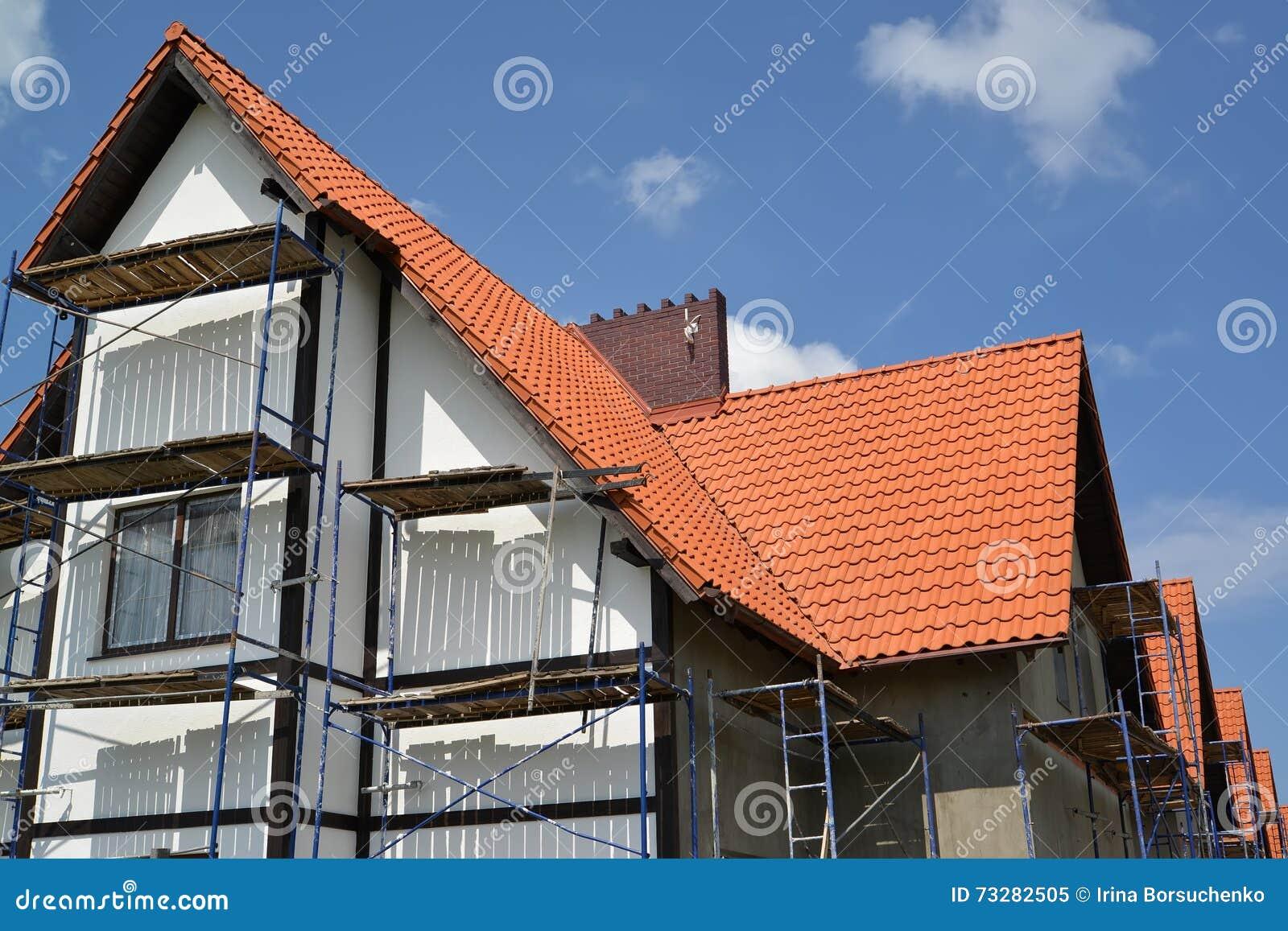 facade maison avec tuile rouge. Black Bedroom Furniture Sets. Home Design Ideas