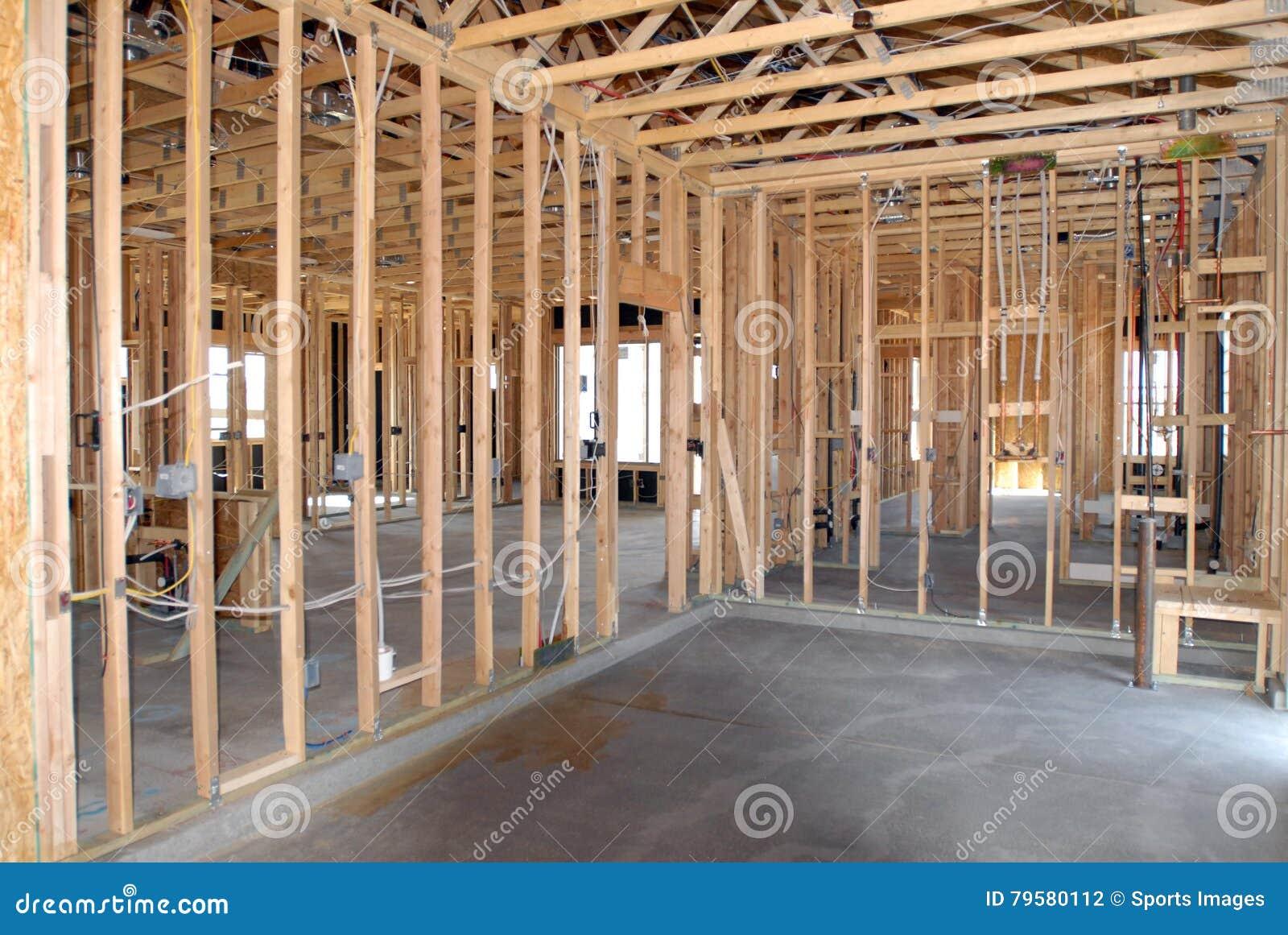 Construction d une nouvelle maison étant construite