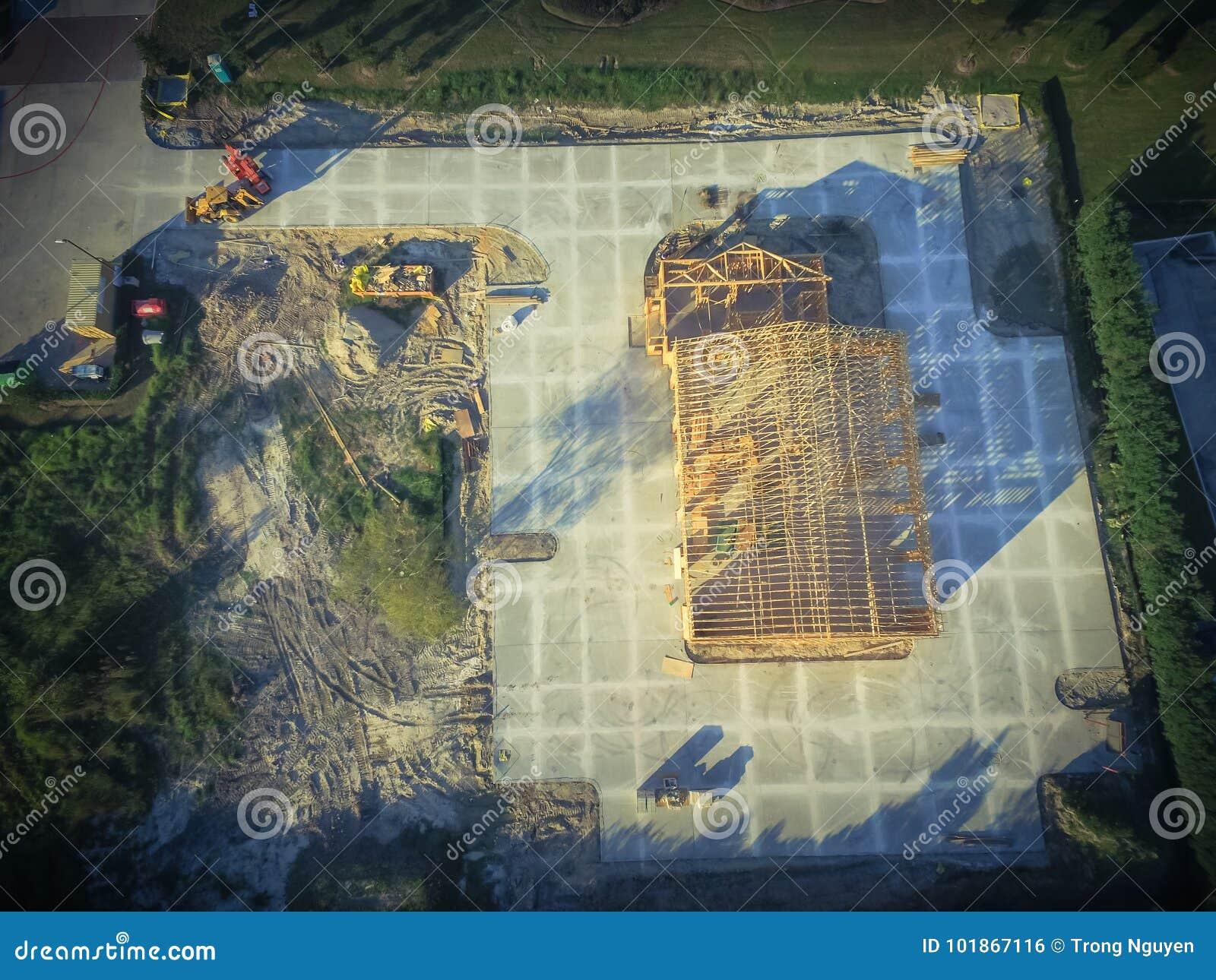 Construction de bâtiments commerciale de maison en bois aérienne