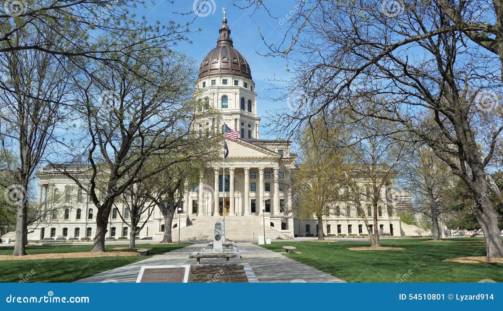 Construction de capitol d état du Kansas