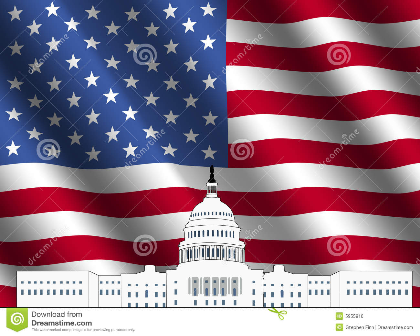 Construction de capitol des USA avec l indicateur américain