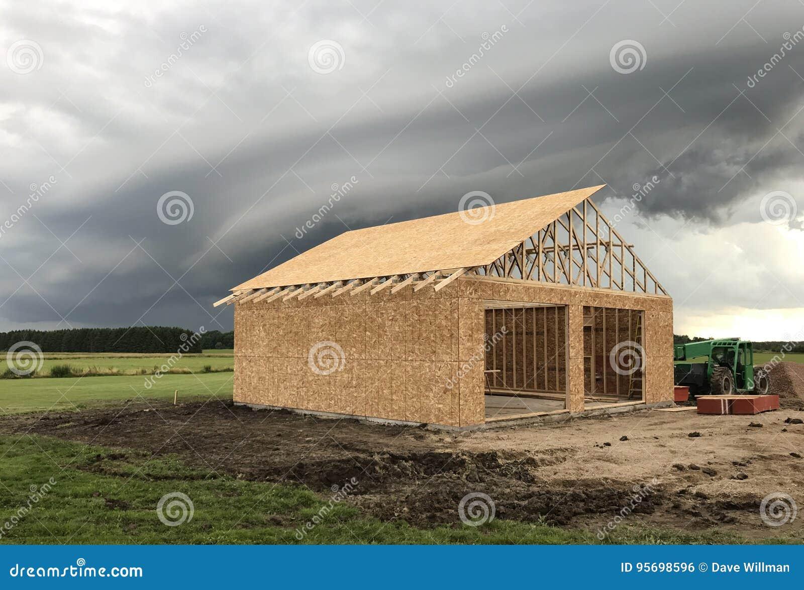 Construction de garage isolé