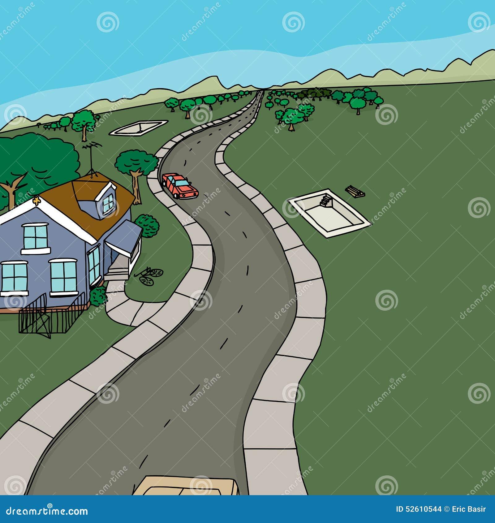 construction de logement rurale illustration stock image