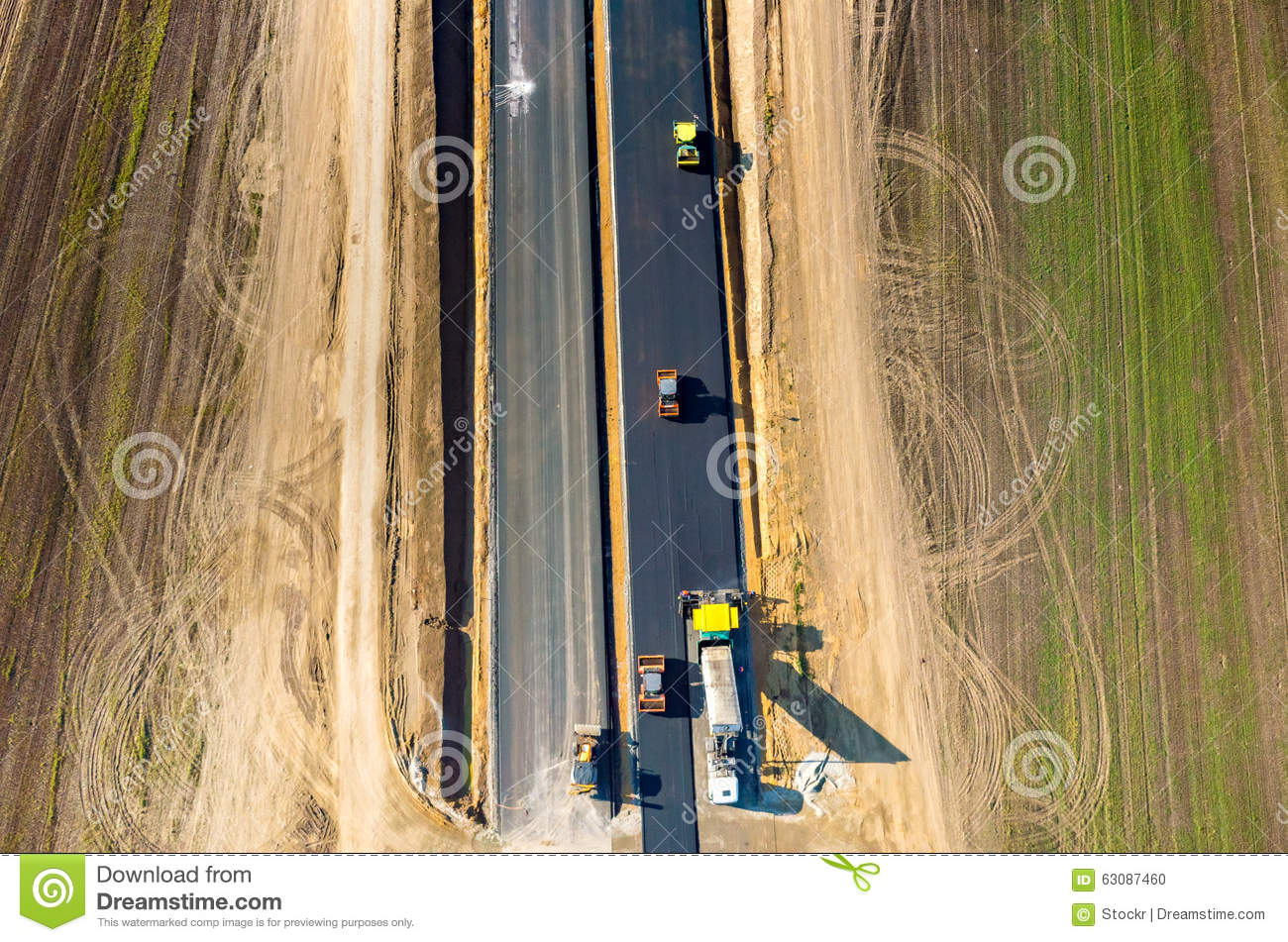 Download Construction De Routes Neuve Photo stock - Image du roadworks, asphaltage: 63087460