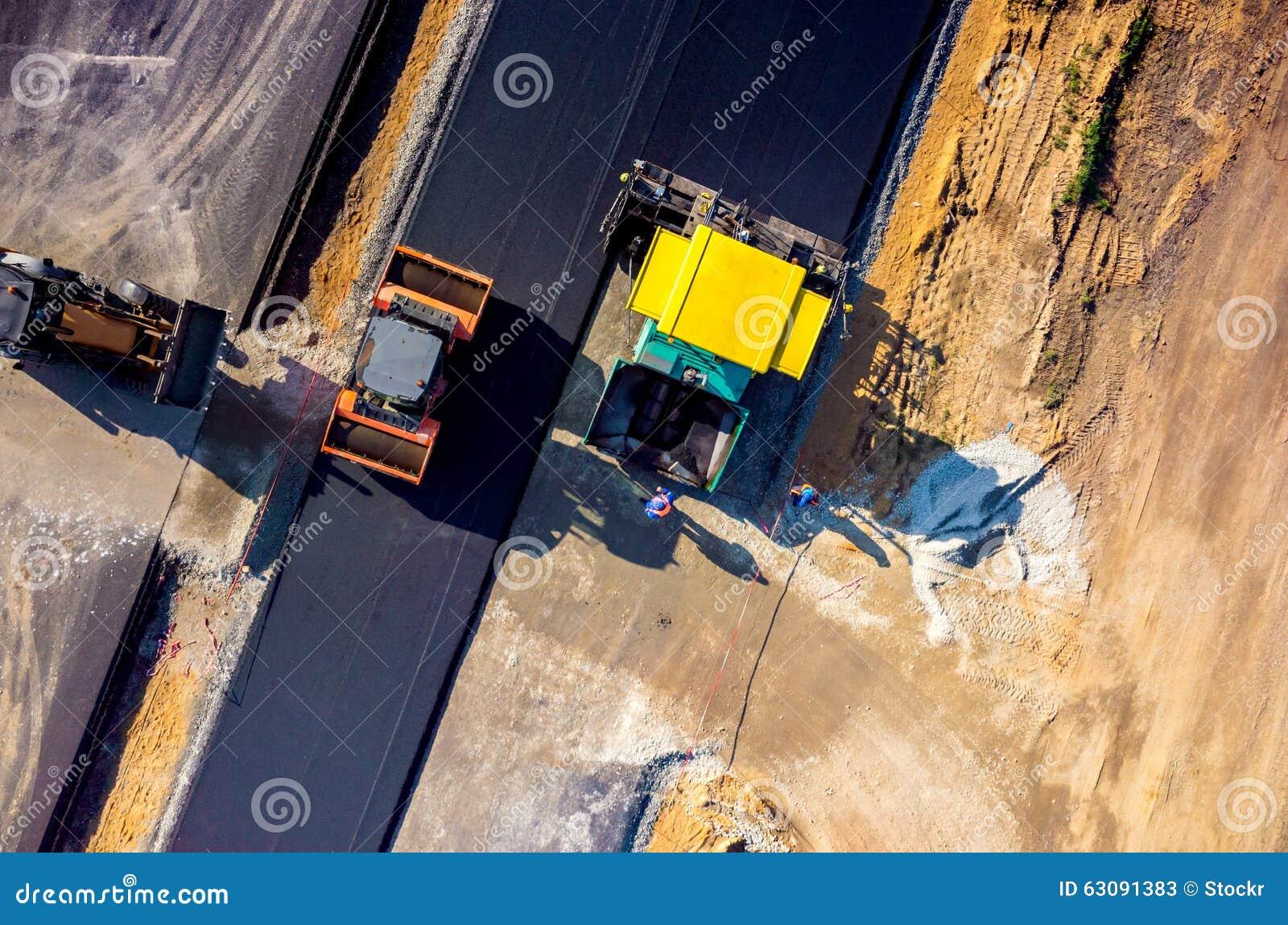 Download Construction De Routes Neuve Image stock - Image du pavez, pavage: 63091383