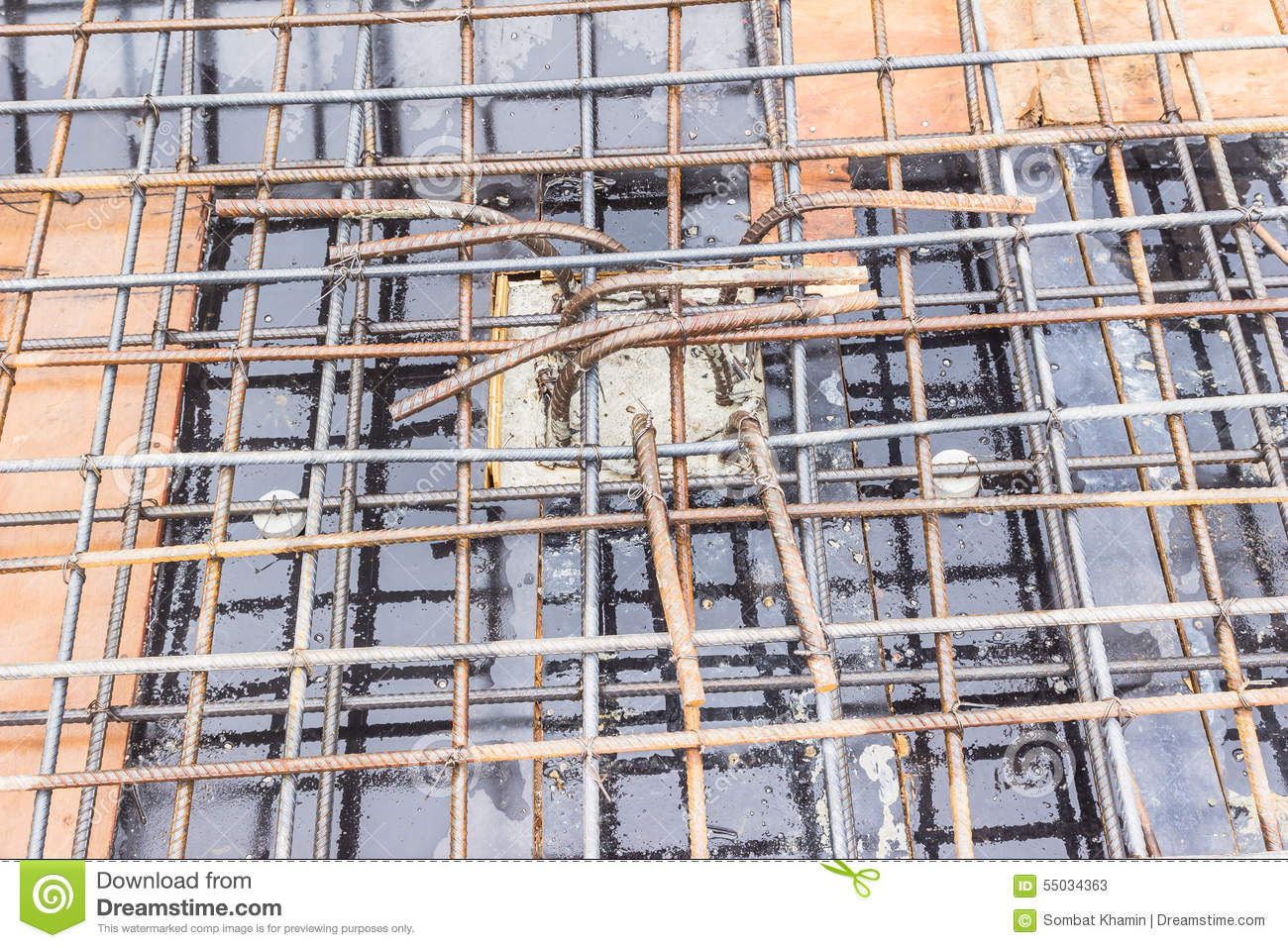 Construction Details Top Part Of Column Reinforcement Bar