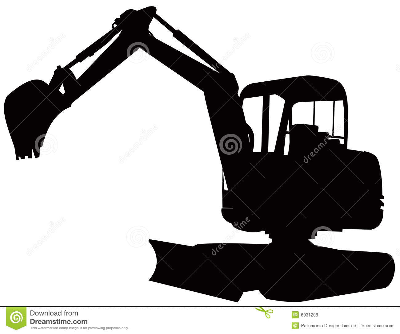 Construction Digger Excavator Royalty Free Stock Photos Image 6031208