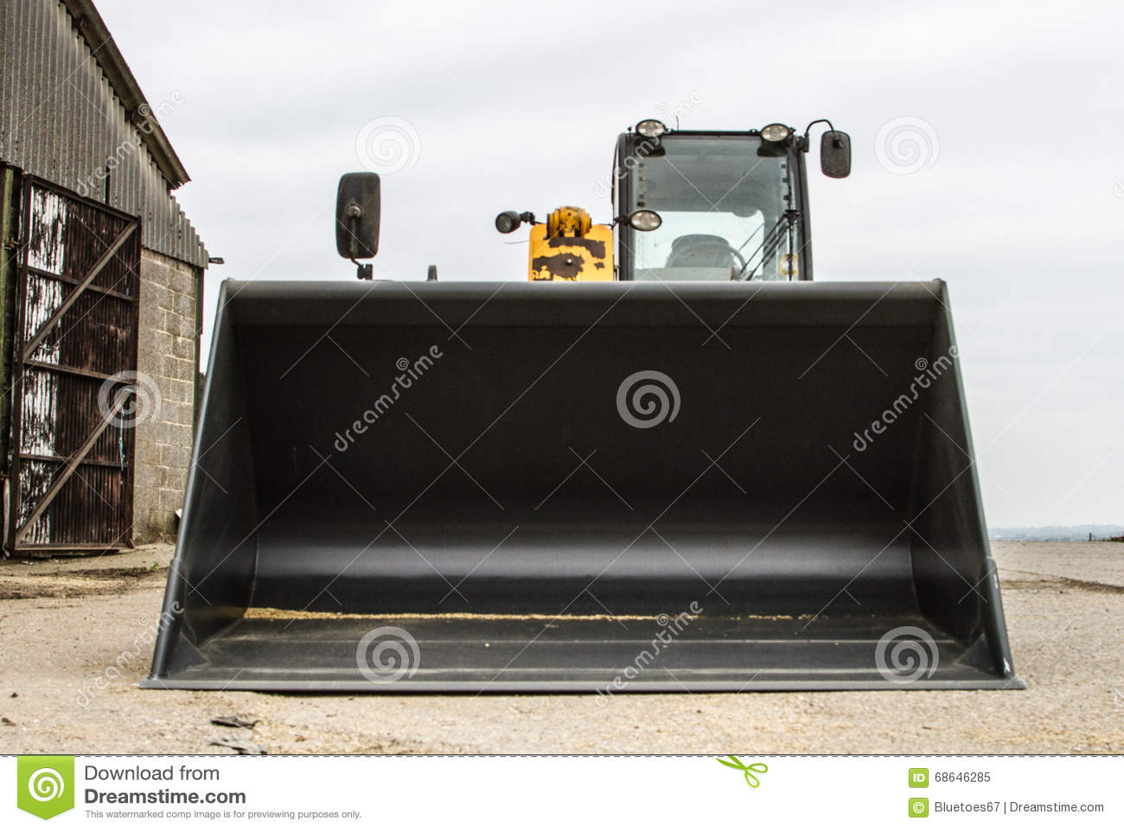 construction digger loader front bucket editorial image image