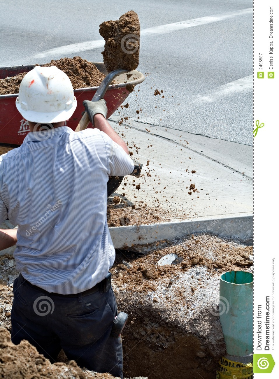 Construction Ditch stock image  Image of earth, project