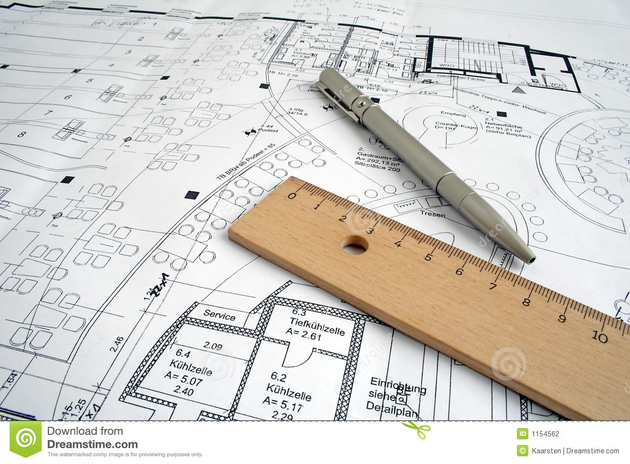 Construction Drawing Stock Photography Image 1154562