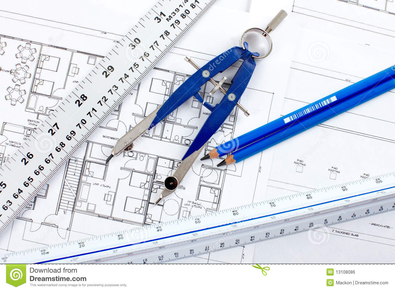 Construction Drawing Royalty Free Stock Image Image