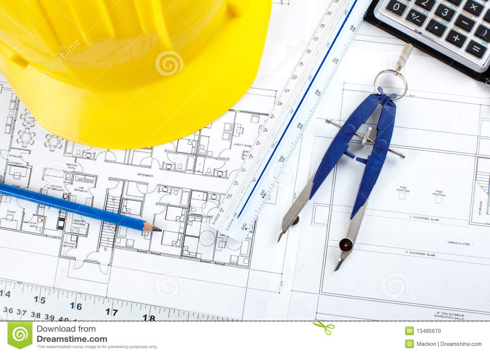 Construction Drawing Stock Photo Image 13485670