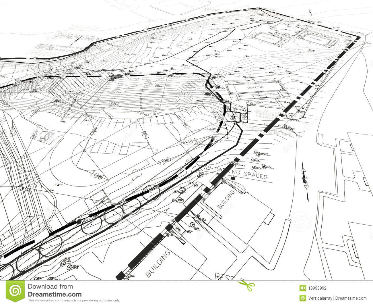 Construction Drawing Stock Photography Image 18933992