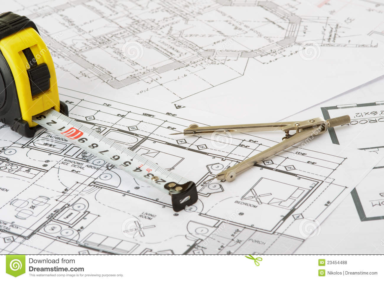 Construction Drawing Royalty Free Stock Photos Image
