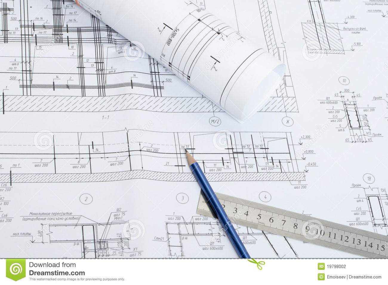 142 construction drawing set of construction drawings construction drawings stock photography image 19798002 for construction drawing malvernweather Images