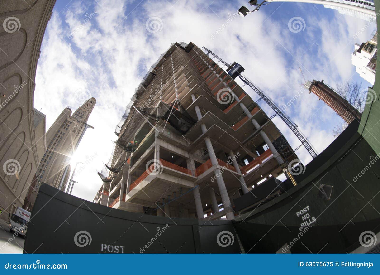 Download Construction Du Bâtiment à Brooklyn Image éditorial - Image du york, neuf: 63075675