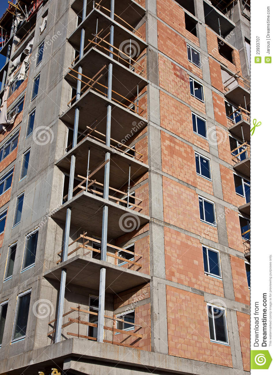 Construction du gratte ciel photographie stock libre de droits image 23933707 - Construction gratte ciel ...