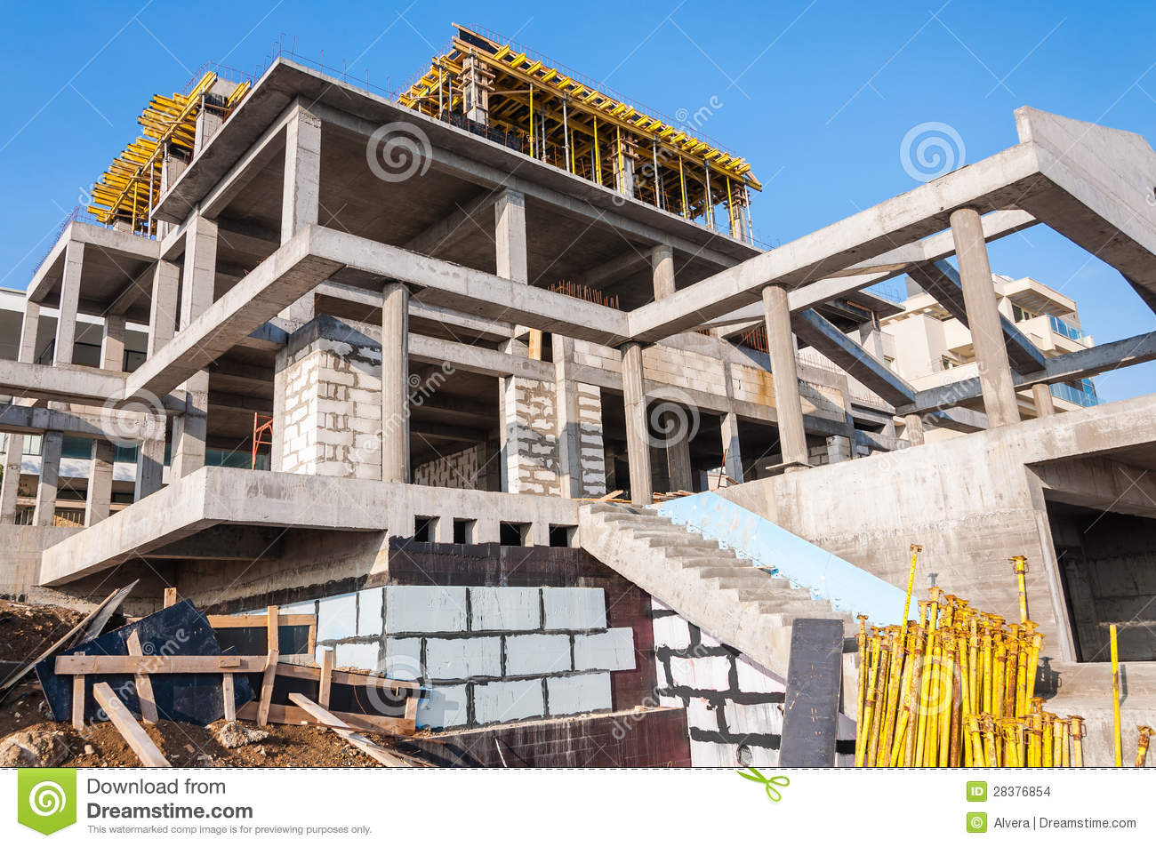 construction en b ton de villa images stock image 28376854