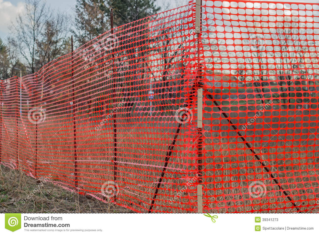 Construction en plastique orange Mesh Safety Fence