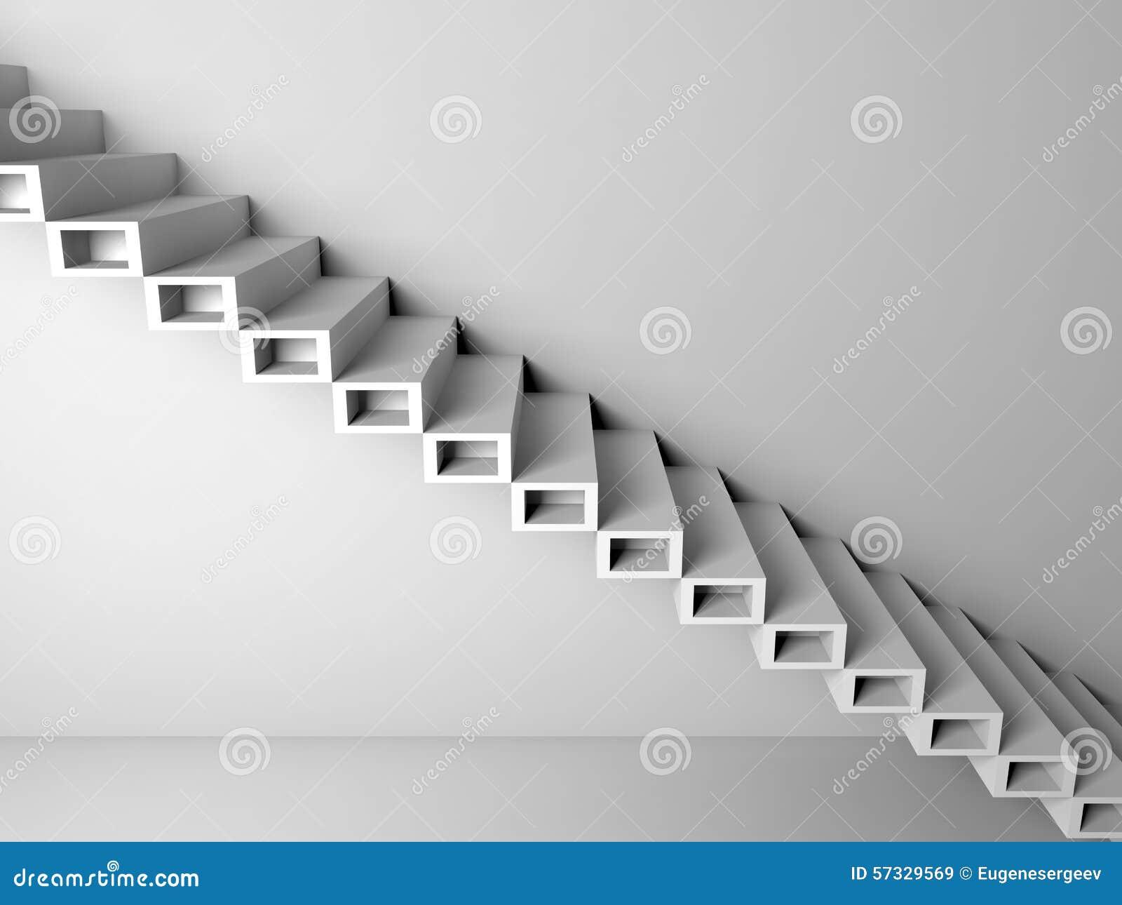 construction en porte faux d 39 escaliers sur le mur 3d illustration stock image 57329569. Black Bedroom Furniture Sets. Home Design Ideas