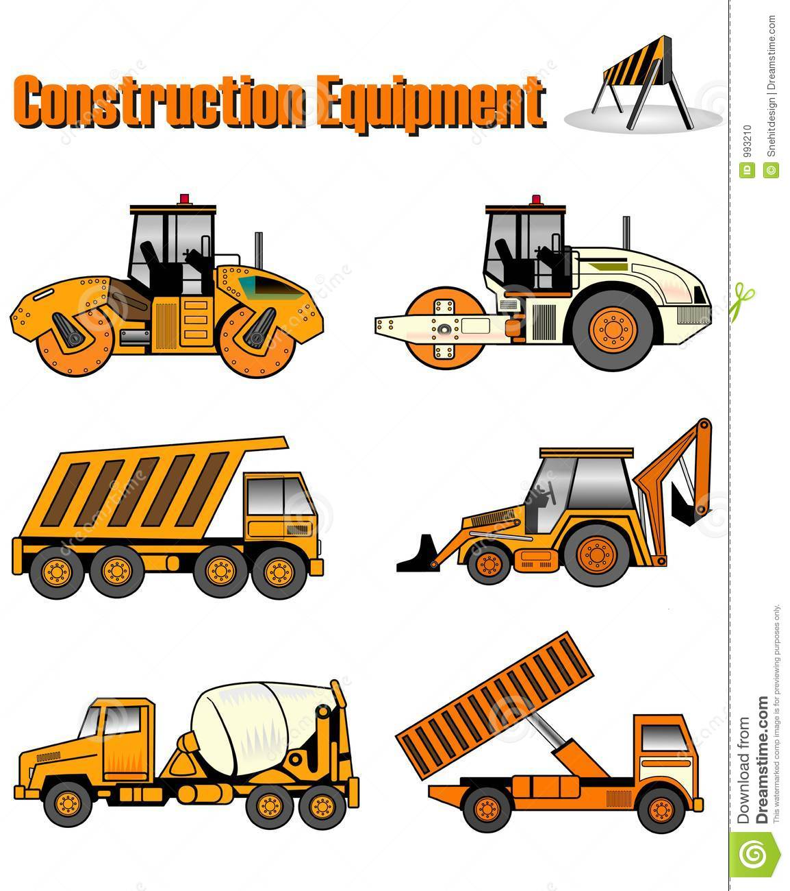 Construction machinery coloring pages - Construction Equipment Stock Photo Image 993210