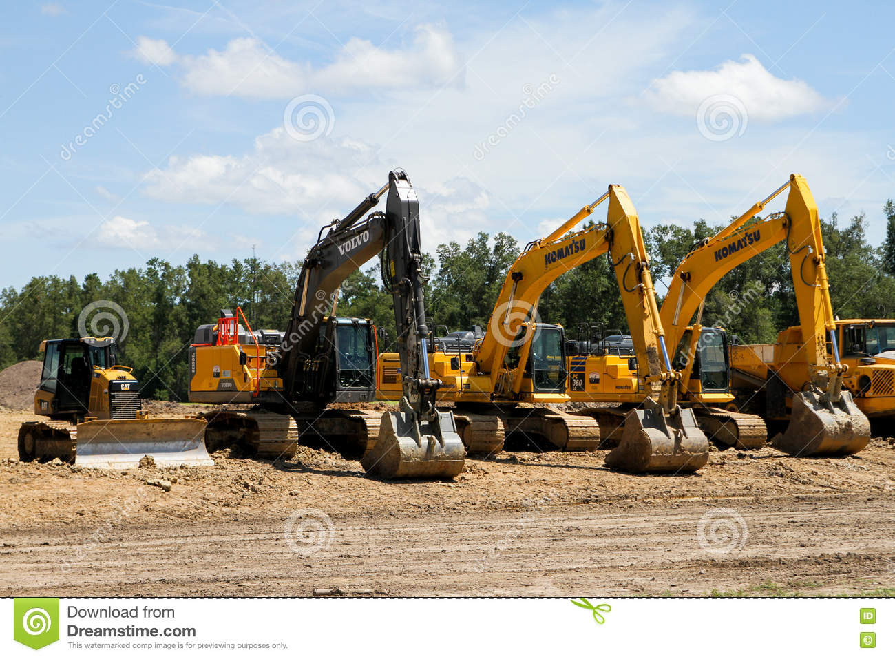 Construction equipment editorial photography  Image of dump