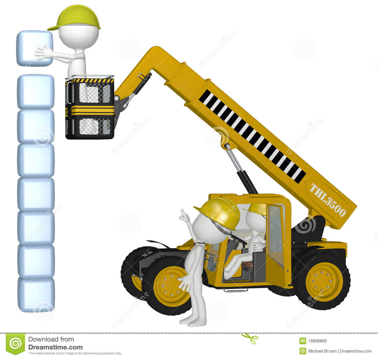 Royalty free stock photo construction equipment people building cubes