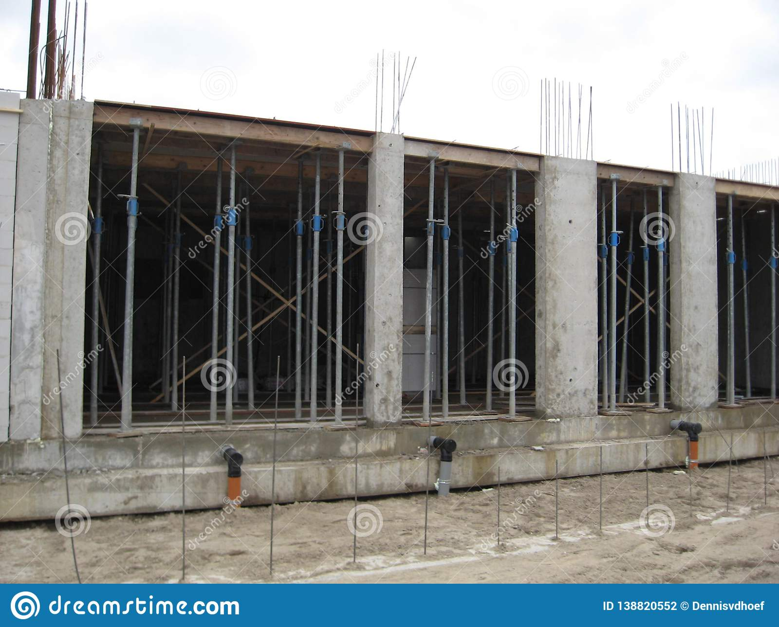 Construction of a flat.