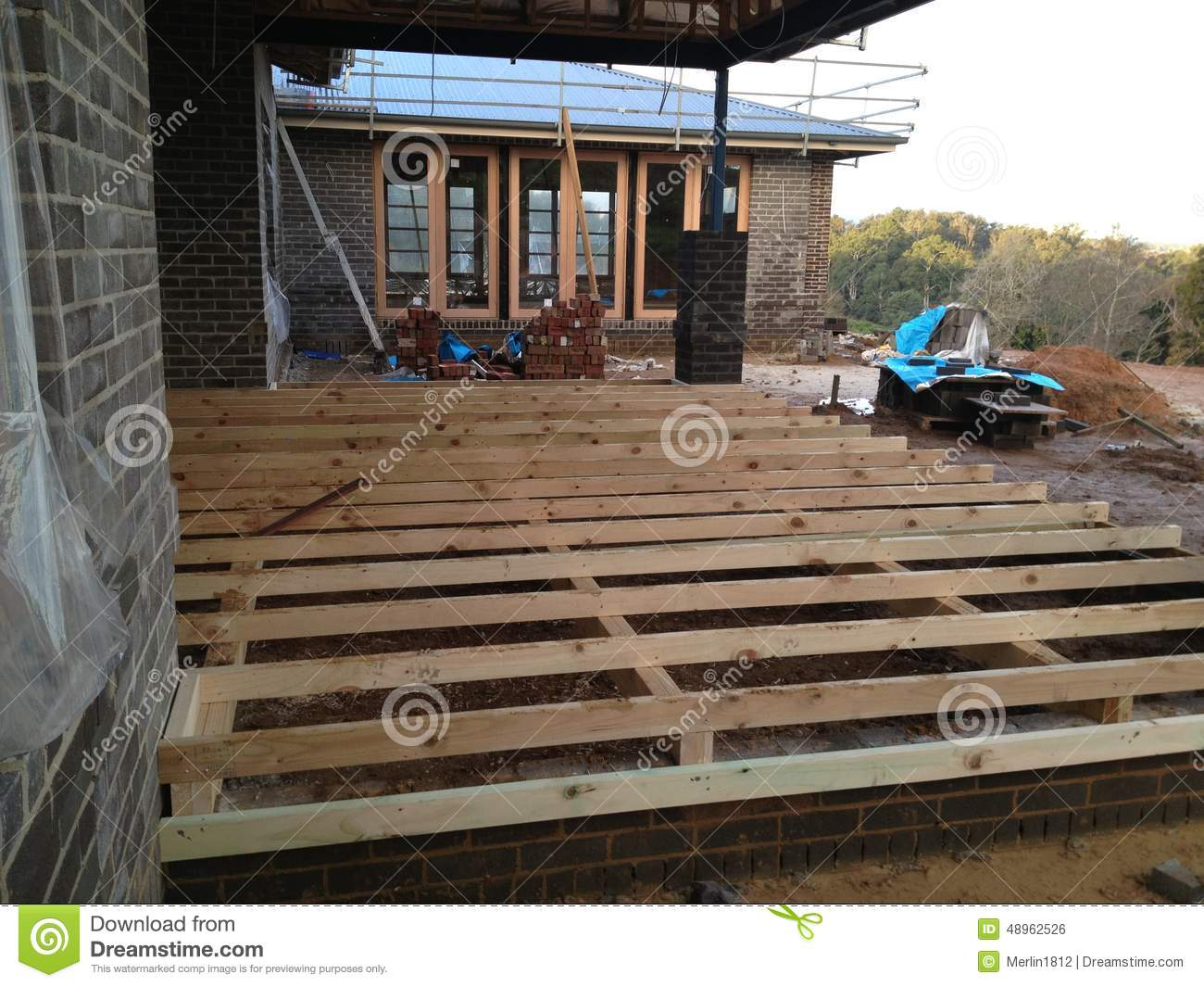 Construction stock photo image 48962526 for Timber deck construction