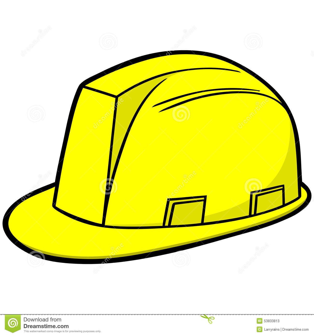 construction hard hat stock vector illustration of safety 53833813 rh dreamstime com construction hard hat clip art