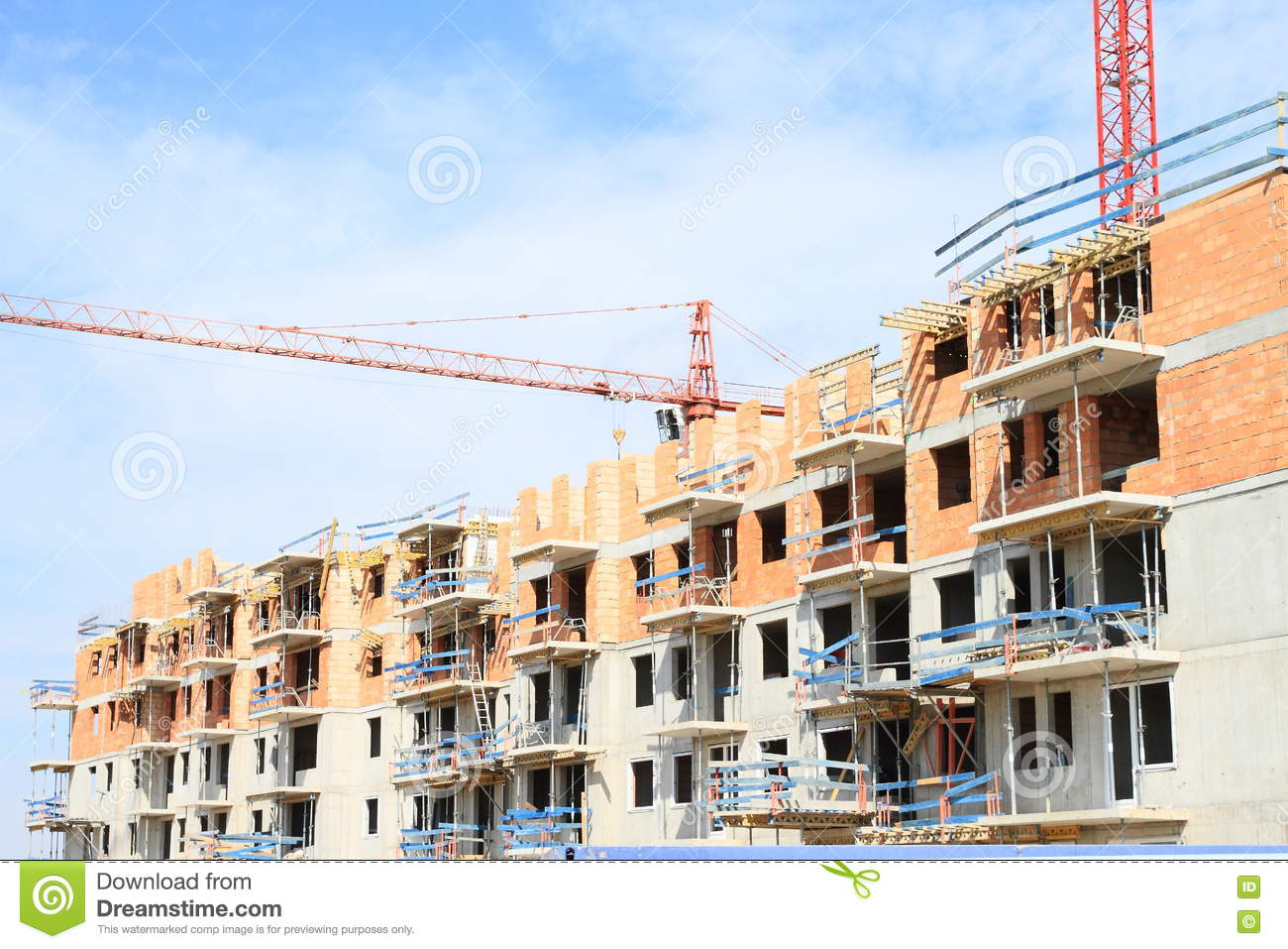 Construction of house with flats