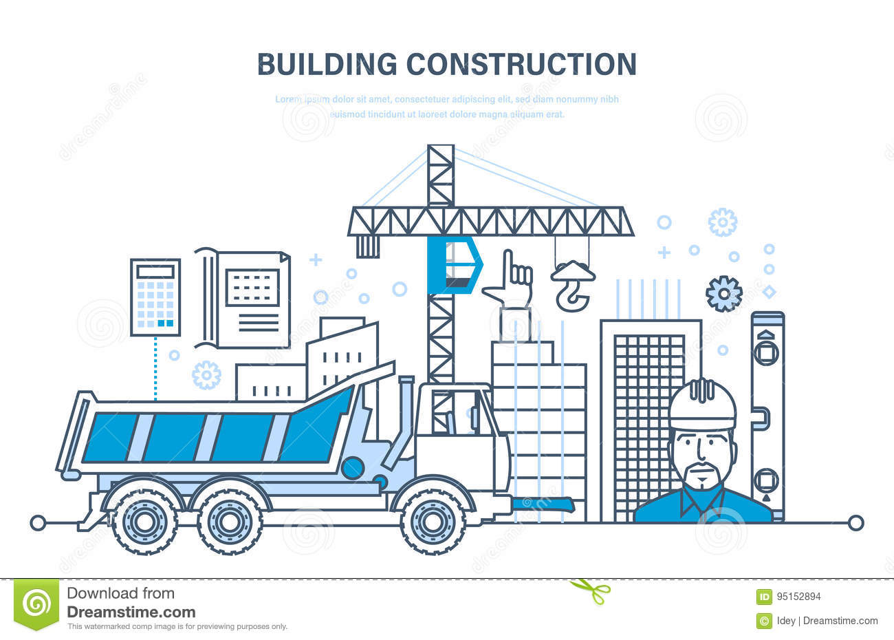 Industry cartoons illustrations vector stock images for What type of engineer designs buildings