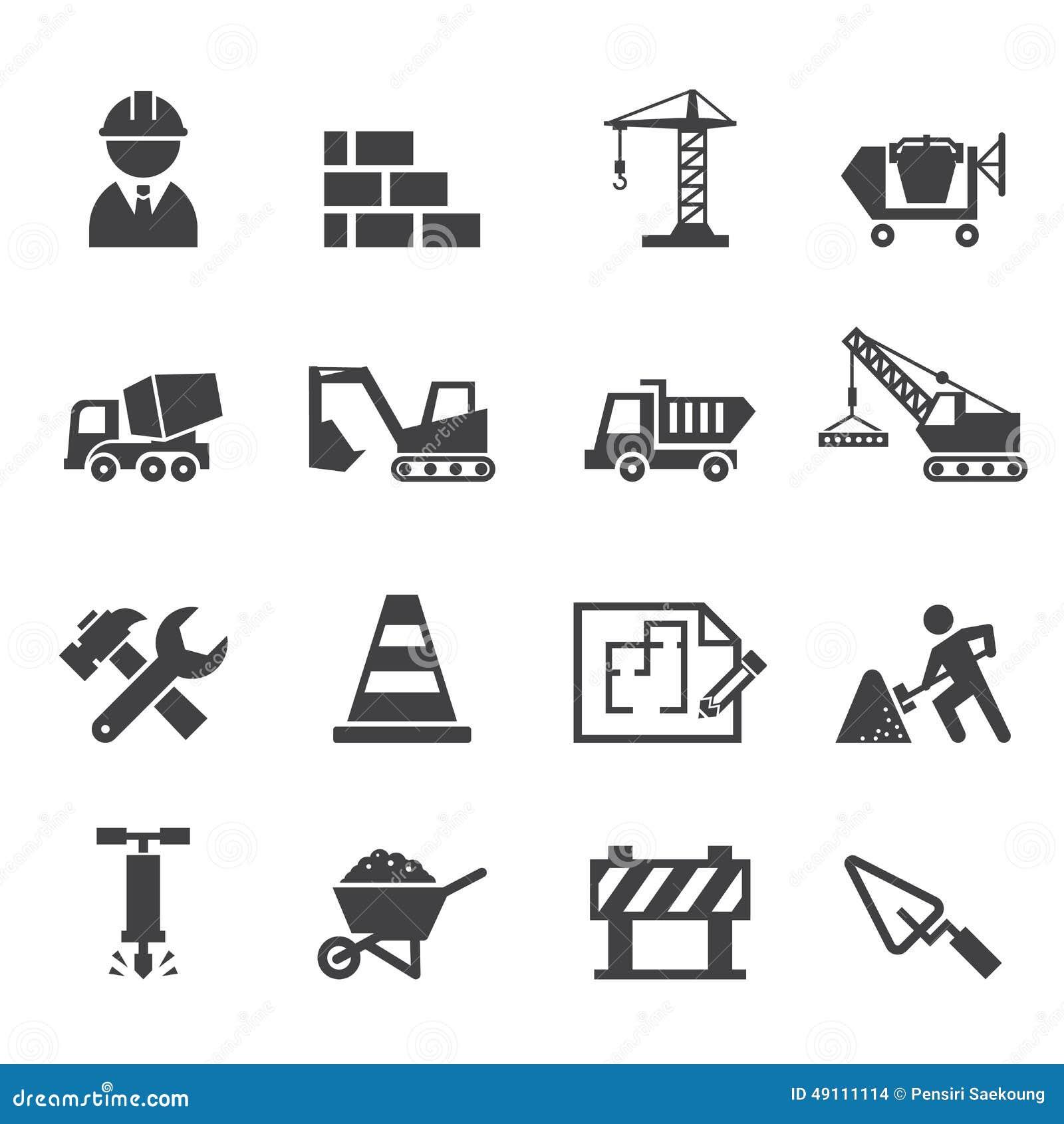 Construction Icon Stock Vector Illustration Of Engineer 49111114