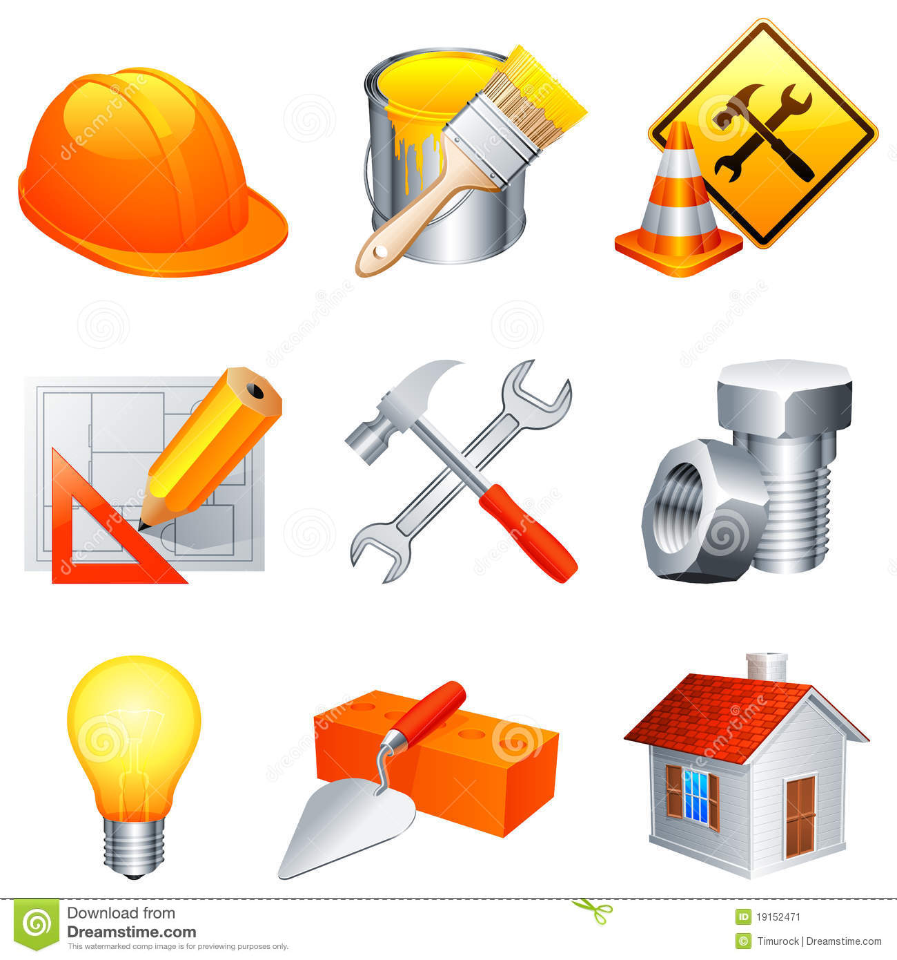 Construction Icons Stock Image Image 19152471