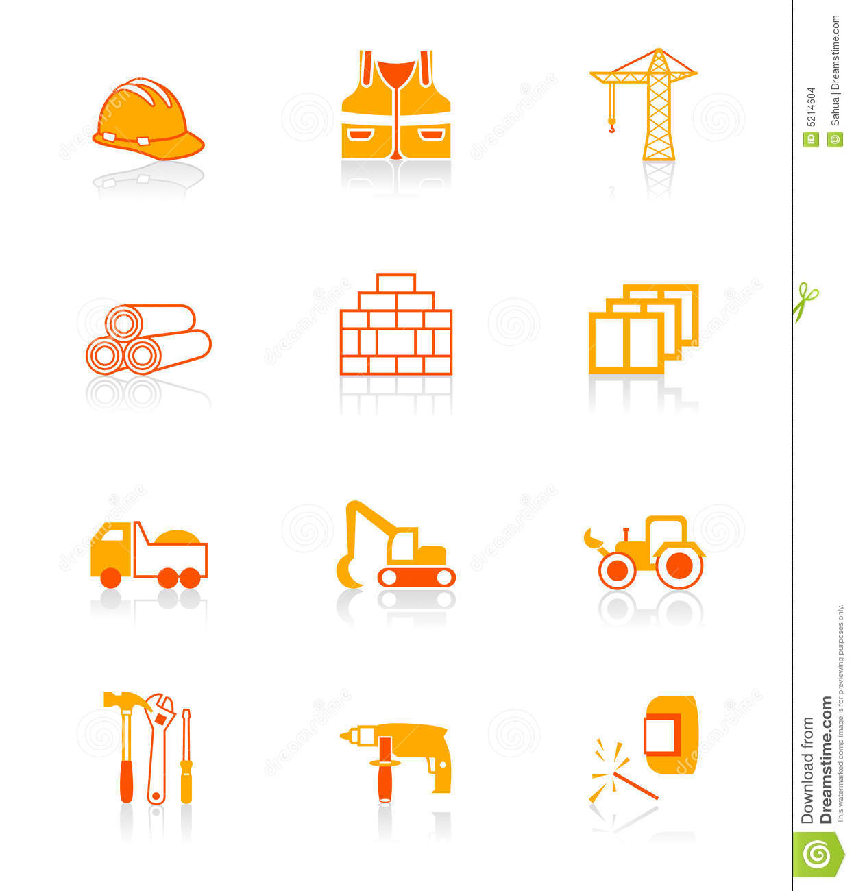 Construction Icons JUICY Series Stock Images Image