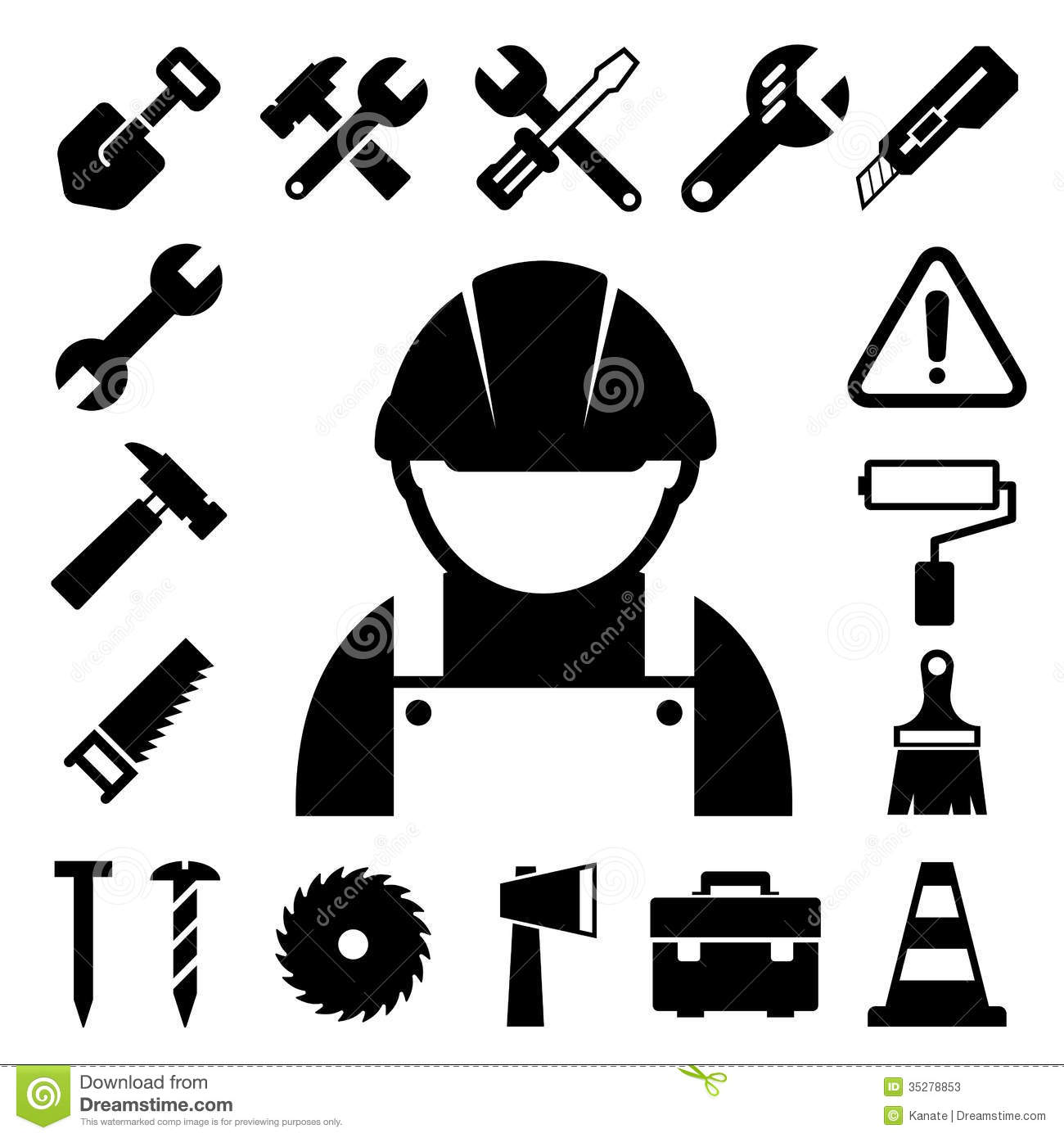 Construction Icons Set Stock Photos - Image: 35278853